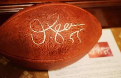 Hand Signed Official Nfl Football (JUNIOR SEAU JSA COA Autograph Official NFL Game Football Hand Signed)