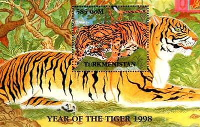 Turkmenistan 1998 Year of the Tiger 1v MNH Souvenir Sheet. (#1)
