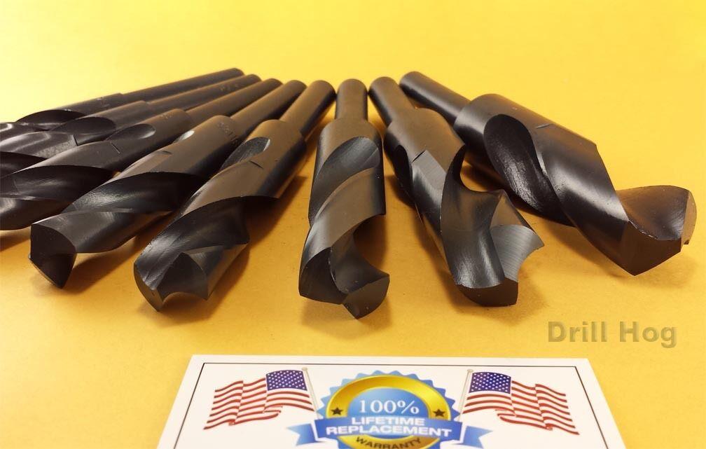 """9/16"""" 5/8 11/16 3/4 13/16 7/8 15/16 1"""" Silver & Deming Drill Bit Set Drill Hog"""