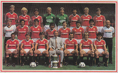 MAN UTD FOOTBALL TEAM PHOTO>1983-84 SEASON