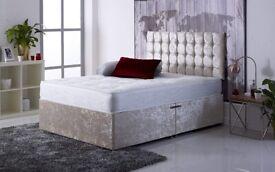 Divan Bed set with Mattress and Headboard 3FT (90cm x 190cm