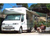 Bessacar E705 2-berth Motorhome, quality van in excellent condition. Fiat Ducato 2800 JTD Diesel