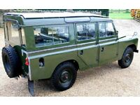 1962 LANDROVER 2a SAFARI, EX RAF ,12 seater FOR HIRE