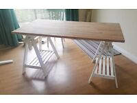 Large IKEA solid beech adjustable artist's desk