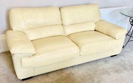 3 Seat Leather Look Sofa