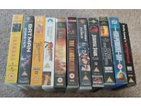 Classic Movies VHS Tapes Cassette (11 Movies) - Job Lot