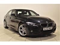 BMW 3 SERIES 2.0 320D M SPORT 4d 181 BHP + 2 PREV OWNERS + SERV (black) 2013
