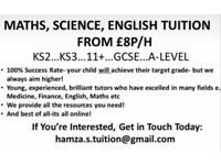 Online Tutoring from £8p/h!