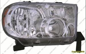 Head Lamp Passenger Side Tndra Without Level High Quality Toyota Tundra 2007-2013