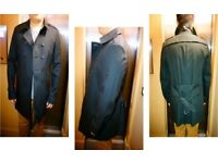 BURBERRY Prorsum Cotton Trench Coat With Camouflage Print Detail