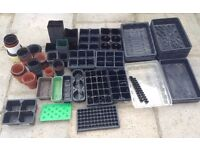 Trays, Seed Trays & Plastic Plant Pots. Over 120 Containers