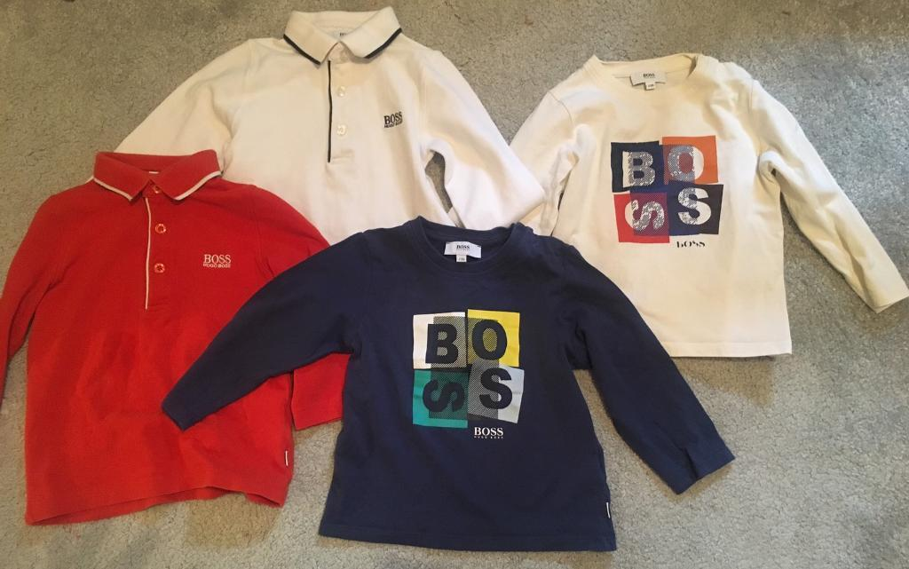 Designer bundle genuine Hugo boss tops age 2