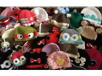 Job Lot Wholesale Baby Handmade Crochet Hats Quality Various Sizes and Characters