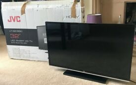 "JVC 32"" LED Smart HD TV with built in wifi - near perfect condition"