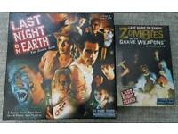 Last night on earth board game with zombies with weapons expansion