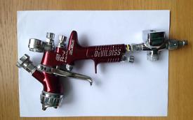 DeVil Biss Gti Pro Digital Clear Spray Gun in good clean condition