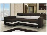 High quality new corner sofa bed Jazz, Amk Furniture, Sofa bed with storage Double bed Polskie meble