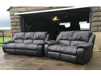3+2 brown leather recliners DELIVERY AVAILABLE