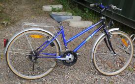 "Topbike Ballad retro girls hybrid bike, 24"" wheels, 15"" frame, 10 gears, mudguards, kick stand"