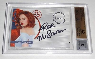 Charmed Autograph The Power of 3 ROSE MCGOWAN PAIGE BGS 9.5 GEM MINT Auto 2003
