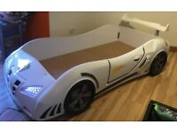 Car kids single bed with led lights.Excellent condition.