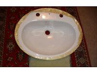 White ceramic bathroom sink