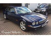 STUNNING Jaguar 3.0 V6 SE luxury saloon Blue metallic/ Cream Leather, walnut interior, BEAUTIFUL CAR