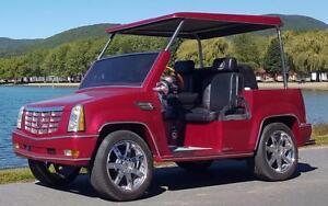 voiturettes de Golf
