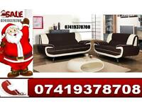 Christmas Special-- Leather 3 and 2 Sofa