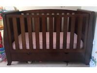Nursery furniture set - cot bed, Chester draws, wardrobe