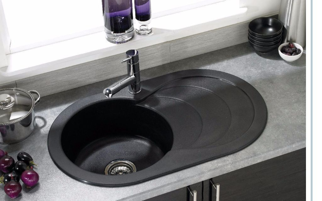 Brand new) Asterite Oval Single Bowl Kitchen Sink Black | in ...