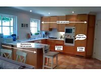 Solid Oak Kitchen & Bosch Oven - Renovating Next Week - £600 ono - Virginia Water - Buyer Collects