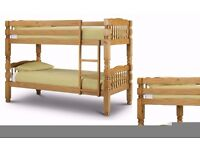 """""""Wow Offer"""" -- Strong Wooden Bunk Bed Frame With 2 x Mattresses -- Cheapest Price"""