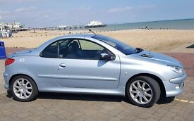 Peugeot 206 CC convertible . 2006 Low milage. price ono