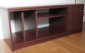 Mahogany Veneer TV/DVD/Games Console Unit