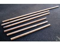 PINE Round Section Timber HANDRAILS , Various Lengths ----- £5 for all Six o.n.o.