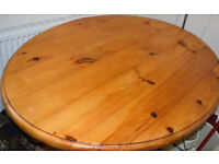 Pine Table Solid Wood 132cm x 98.5cm aprox (Legs will separate)