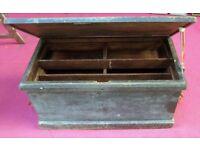 Large Wooden Vintage Tool Box