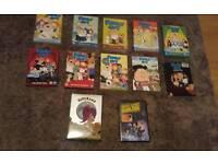 Family guy dvds seasons 1-10 + dark side and futurama