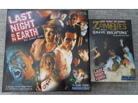 Last Night on Earth and Zombies with weapons (unopened) expansion board game