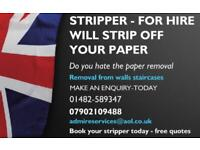 PAPER STRIPPING-ONLY