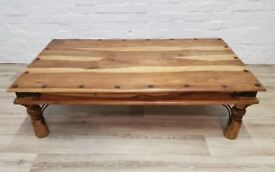 Solid Wood Coffee Table (DELIVERY AVAILABLE FOR THIS ITEM OF FURNITURE)