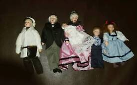 Victorian dolls house family.