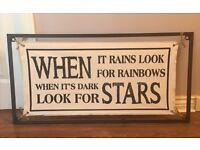 Rainbow & Stars Wall Art