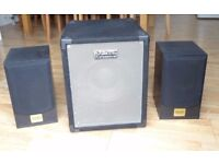 Acoustic Speaker Set w Subwoofer Portable PA SystemDJ-Tech Cube 201 280W with Limiter integrated