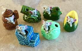 6 Mice Toothpick Holder Ornaments
