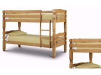 """Wow Offer"" -- Strong Wooden Bunk Bed Frame With 2 x Mattresses -- Cheapest Price"