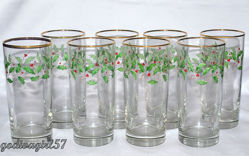 Lenox Holly Glasses Ebay