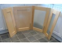 Kitchen cupboard doors (B&Q) - Shaker style light Birch