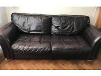 Large brown sofa for sell